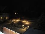 Aussicht vom Balkon bei Nacht
