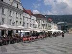 Leobener Hauptplatz mit Cortina-Sitzplätze