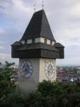 Uhrturm vom Schloßberg fotografiert
