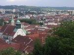 Ausblick vom Uhrturm auf Graz
