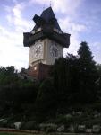 Grazer Uhrturm beim Aufstieg