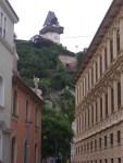Uhrturm am Fuße in der Altstadt