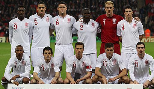 englische Nationalmannschaft vor EM 2012