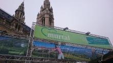 Das Murtal präsentiert sich vorm Rathaus