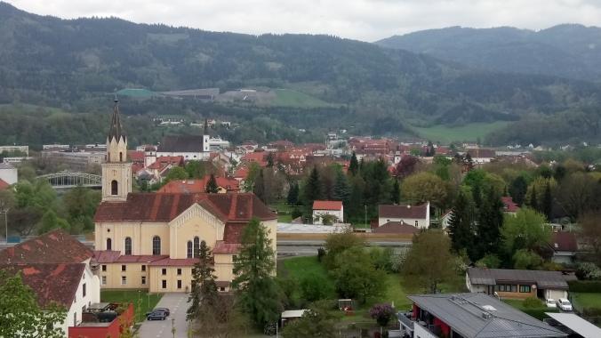 Aussicht von der Massenburg aus in Richtung Altstadt
