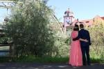 Hochzeitsfoto mit Schwammerlturm