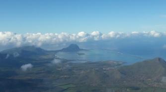 Mauritius vom Flugzeug aus