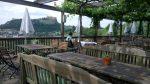 Blick von der Terrasse auf die Riegersburg
